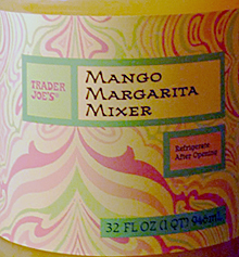 Trader Joe's Mango Margarita Mixer