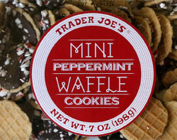 Trader Joe's Mini Peppermint Waffle Cookies