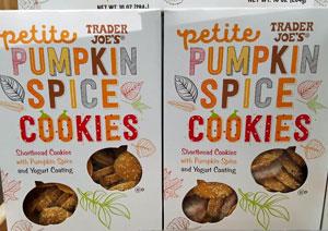 shortbread cookies with pumpkin spice and yogurt coating