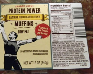 Trader Joe's Protein Power Banana Chocolate Chunk Muffins Reviews