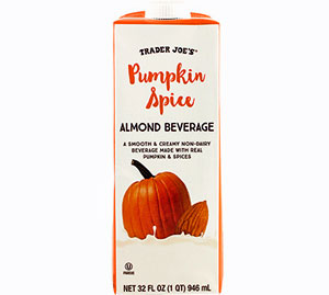 Trader Joe's Pumpkin Spice Almond Beverage