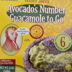 Trader Joe's Avocado's Number Guacamole To Go
