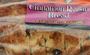 Trader Joe's Cinnamon Raisin Bread