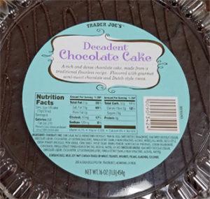 Trader Joe's Decadent Chocolate Cake