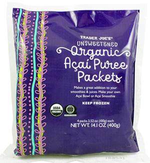 Trader Joe's Unsweetened Organic Açaí Purée Packets