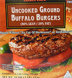 Trader Joe's Uncooked Ground Buffalo Burgers