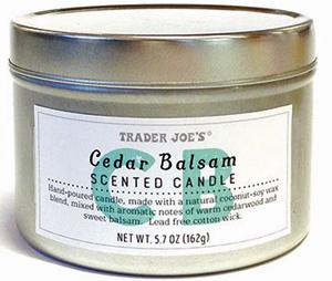 Trader Joe's Cedar Balsam Candle