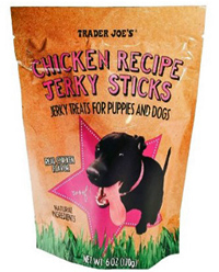 Trader Joe's Chicken Recipe Jerky Sticks for Dogs