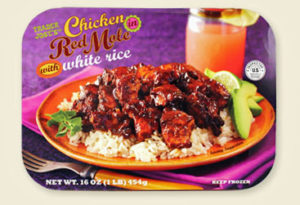 Trader Joe's Chicken in Red Mole with White Rice