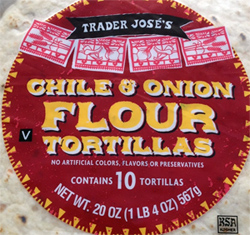 Trader Joe's Chile & Onion Flour Tortillas