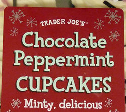 Trader Joe's Chocolate Peppermint Cupcakes