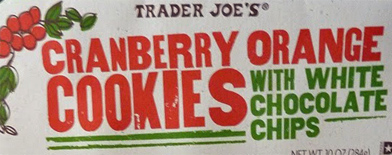 Trader Joe's Cranberry Orange Cookies with White Chocolate Chips Reviews
