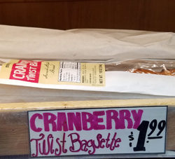 Trader Joe's Cranberry Twist Baguette