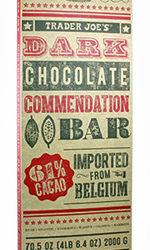Trader Joe's Dark Chocolate Commendation Bar