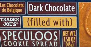 Trader Joe's Dark Chocolate Bar Filled with Speculoos Cookie Spread