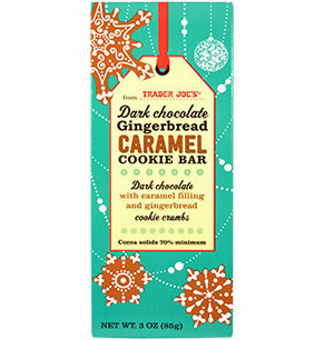 Trader Joe's Dark Chocolate Gingerbread Caramel Cookie Bar