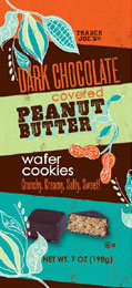Trader Joe's Dark Chocolate Covered Peanut Butter Wafer Cookies