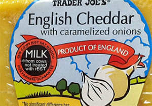 Trader Joe's English Cheddar with Caramelized Onions