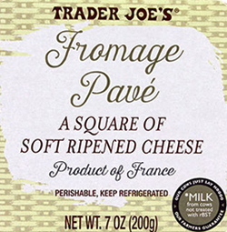 Trader Joe's Fromage Pavé Soft Ripened Cheese
