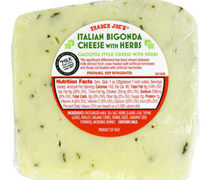Trader Joe's Italian Bigonda Cheese with Herbs