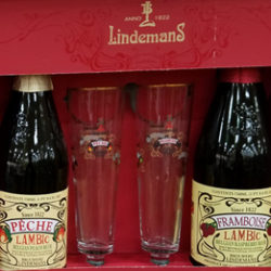 Lindemans Lambic Beer and Glasses Set