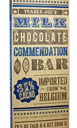 Trader Joe's Milk Chocolate Commendation Bar