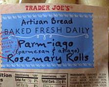 Trader Joe's Parmiago Rosemary Rolls