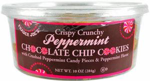 Trader Joe's Crispy Crunchy Peppermint Chocolate Chip Cookies