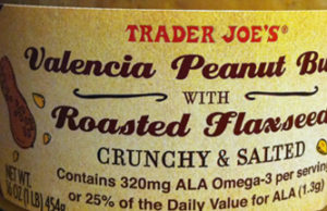 Trader Joe's Valencia Peanut Butter with Roasted Flaxseeds
