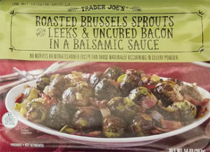 Trader Joe's Roasted Brussels Sprouts with Leeks & Uncured Bacon in a Balsamic Sauce