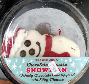 Trader Joe's Chocolate Mousse Snowman