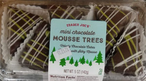 Trader Joe's Mini Chocolate Mousse Trees