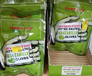 Trader Joe's Just a Handful of Pitted Salted Manzanilla Olives