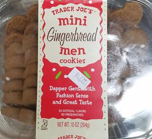 Trader Joe's Mini Gingerbread Men Cookies
