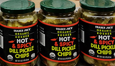 Trader Joe's Organic Kosher Hot & Spicy Dill Pickle Chips Reviews