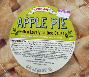 Trader Joe's Apple Pie with Lattice Crust