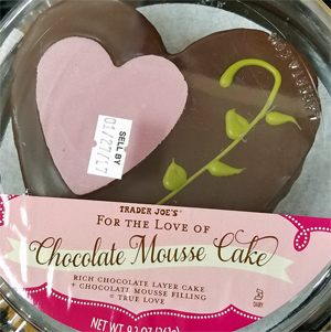 Trader Joe's For the Love of Chocolate Mousse Heart Cake