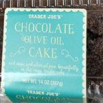 Trader Joe's Chocolate Olive Oil Cake
