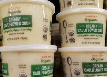 Trader Joe's Organic Creamy Cauliflower Soup