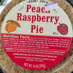 Trader Joe's Peach Raspberry Pie