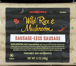 Trader Joe's Wild Rice & Mushroom Sausage-less Sausage