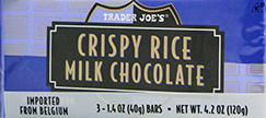 Trader Joe's Crispy Rice Milk Chocolate Bar