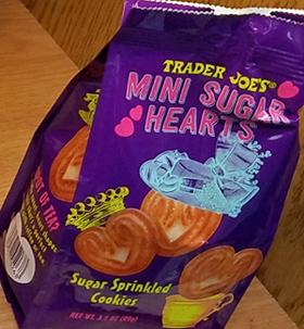 Trader Joe's Mini Sugar Hearts Cookies
