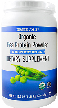 Trader Joe's Unsweetened Organic Pea Protein Powder