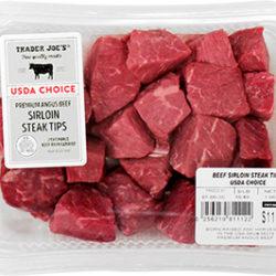 Trader Joe's Angus Beef Sirloin Steak Tips