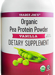 Trader Joe's Vanilla Organic Pea Protein Powder