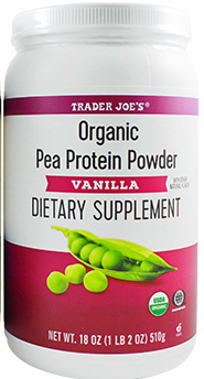 Trader Joe's Vanilla Organic Pea Protein Powder Reviews
