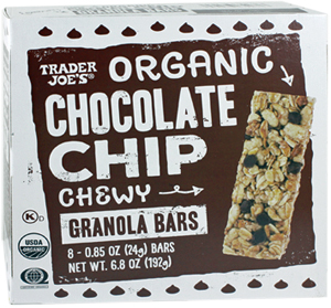 Trader Joe's Organic Chewy Chocolate Chip Granola Bars