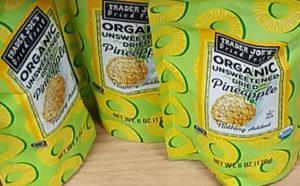 Trader Joe's Organic Unsweetened Dried Pineapple