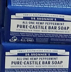 Dr. Bronner's All-in-One Hemp Peppermint Pure Castile Bar Soap